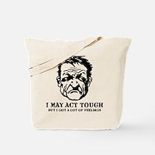 tough_guy_feelings_blk Tote Bag