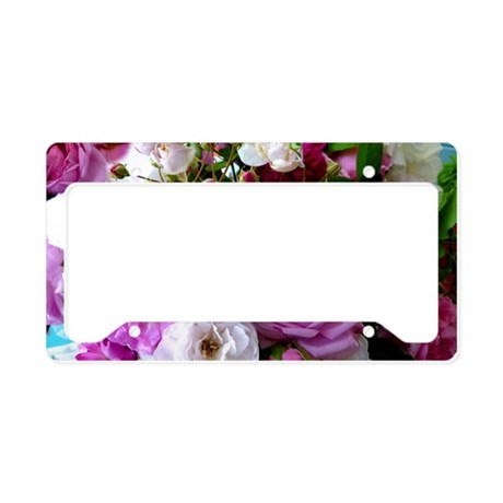 persian roses 6 License Plate Holder