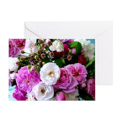 persian roses 6 Greeting Card