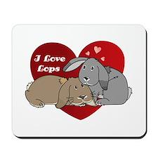 I love lop rabbits Mousepad