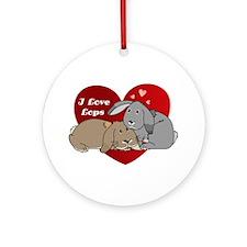 I love lop rabbits Ornament (Round)