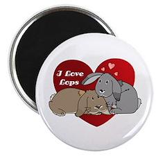 I love lop rabbits Magnet