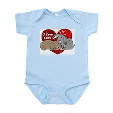 I love lop rabbits Infant Bodysuit