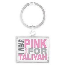 I-wear-pink-for-TALIYAH Landscape Keychain