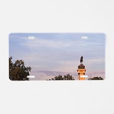 Spain, Madrid, Parque del R Aluminum License Plate