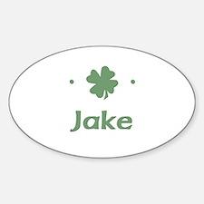 """Shamrock - Jake"" Oval Decal"