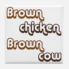brown1 Tile Coaster