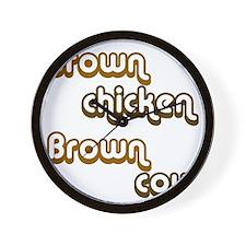 brown1 Wall Clock