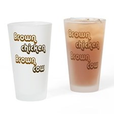 brown1 Drinking Glass