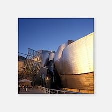 """Guggenheim Museum. Designed Square Sticker 3"""" x 3"""""""