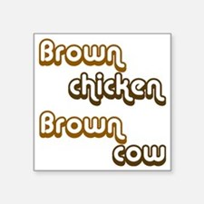"brown1 Square Sticker 3"" x 3"""