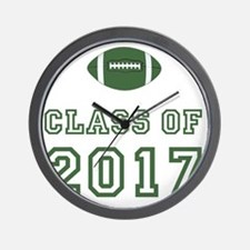 Class Of 2017 Football Green 1 Wall Clock
