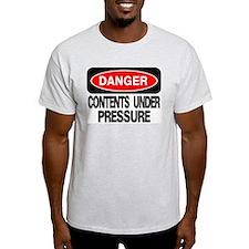 Contents Under Pressure Ash Grey T-Shirt