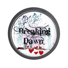breaking dawn #7 with black text and wh Wall Clock