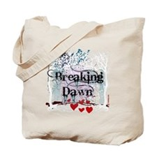 breaking dawn #7 with black text and whit Tote Bag