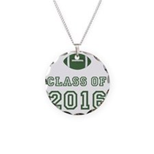 Class Of 2016 Football Green Necklace