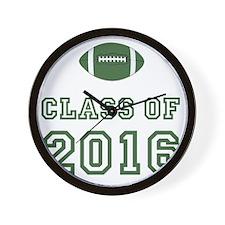 Class Of 2016 Football Green 1 Wall Clock