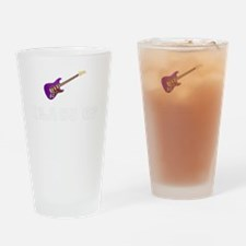 Class Of 2016 Guitar White 1 Drinking Glass