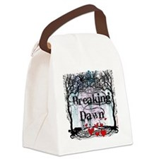 breaking dawn #7 with black text  Canvas Lunch Bag