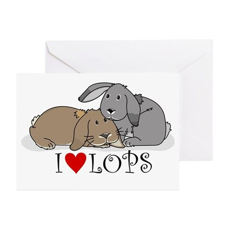 "I ""heart"" lops Greeting Cards (Pk of 10)"