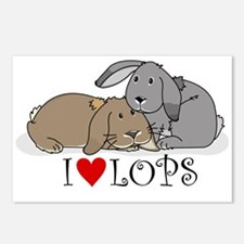 """I """"heart"""" lops Postcards (Package of 8)"""