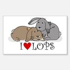 """I """"heart"""" lops Rectangle Decal"""