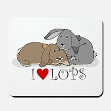 """I """"heart"""" lops Mousepad"""