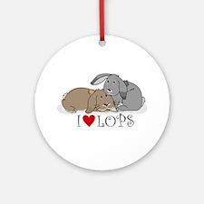 "I ""heart"" lops Ornament (Round)"