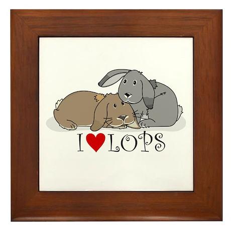 """I """"heart"""" lops Framed Tile"""
