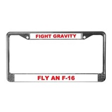 WE DELIVER (F-16) License Plate Frame