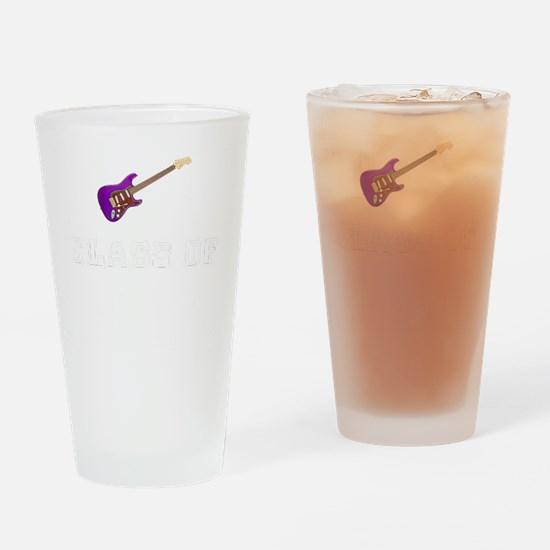 Class Of 2018 Guitar White 1 Drinking Glass