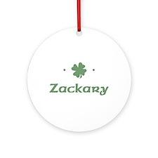 """Shamrock - Zackary"" Ornament (Round)"