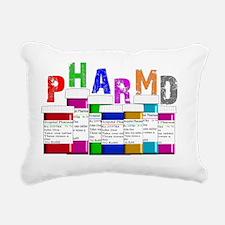 pharm D multi bottles 1 Rectangular Canvas Pillow