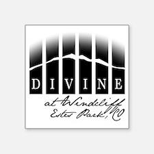 "Divine Logo Square Tag Whit Square Sticker 3"" x 3"""
