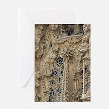 Nativity Facade detaili's La Sagrada Greeting Card