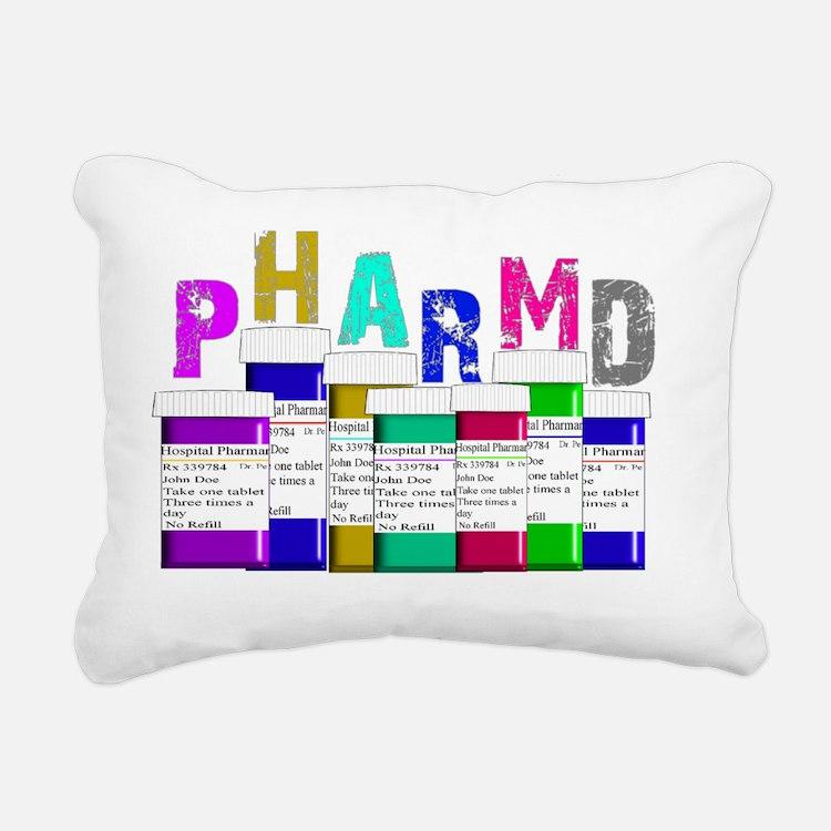 Pharm D Multi bottles 2 Rectangular Canvas Pillow