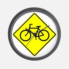 Bike Sign Share the Road Wall Clock