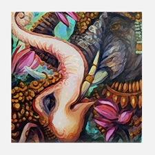 7x7 Elephants Tile Coaster