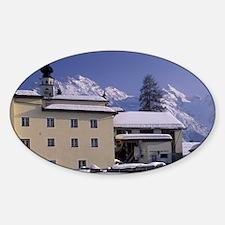 Graubunden. Ftan Village in winter. Decal