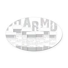 PharmD multi bottles GREY Oval Car Magnet