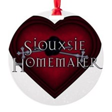 Siouxsie Homemaker Red Knitting BLK Ornament