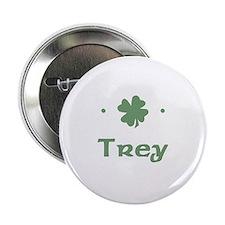 """""""Shamrock - Trey"""" Button"""
