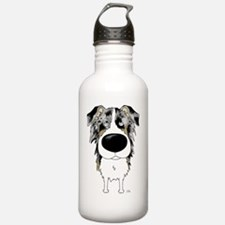 BlueMerleAussieShirtFr Water Bottle