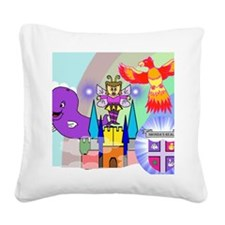 sar_crystal_city.puzzle Square Canvas Pillow