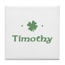 """Shamrock - Timothy"" Tile Coaster"