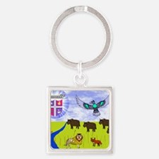 sar_amber_plains.puzzle Square Keychain