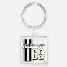 mustangbar69 Square Keychain