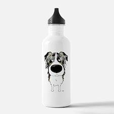 BlueMerleAussie5x7 Water Bottle