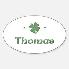 """""""Shamrock - Thomas"""" Oval Decal"""