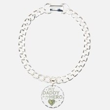 daddy is my hero Charm Bracelet, One Charm